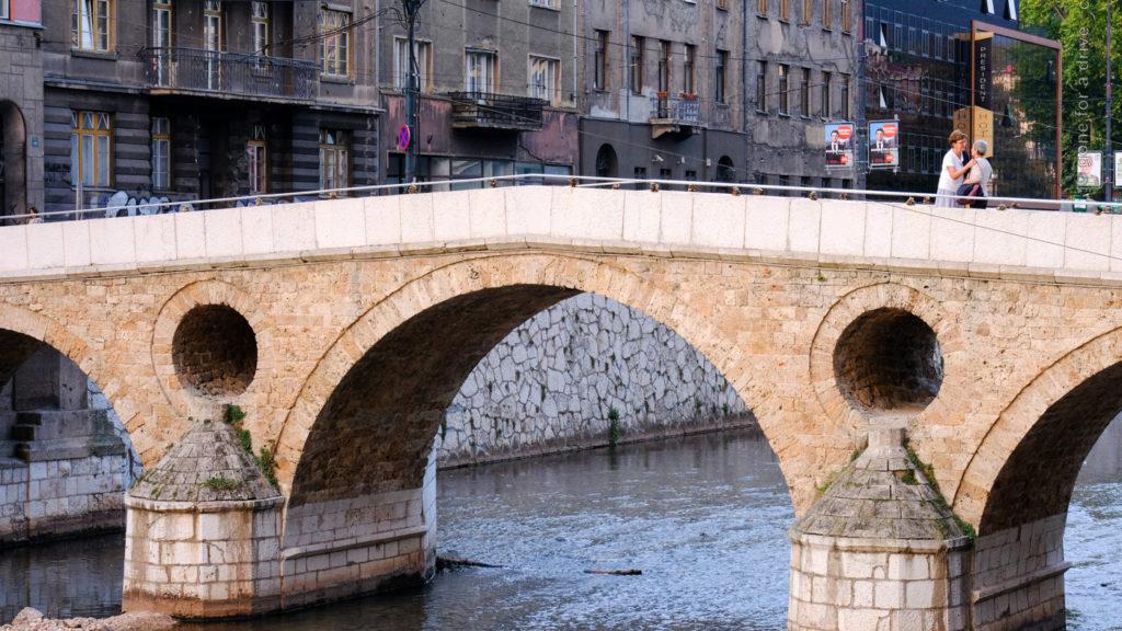 Lateinerbrücke in Sarajevo, Bosnien und Herzegowina.