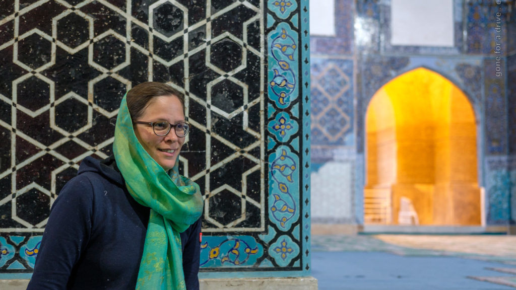 In der Blauen Moschee in Tabriz, Iran