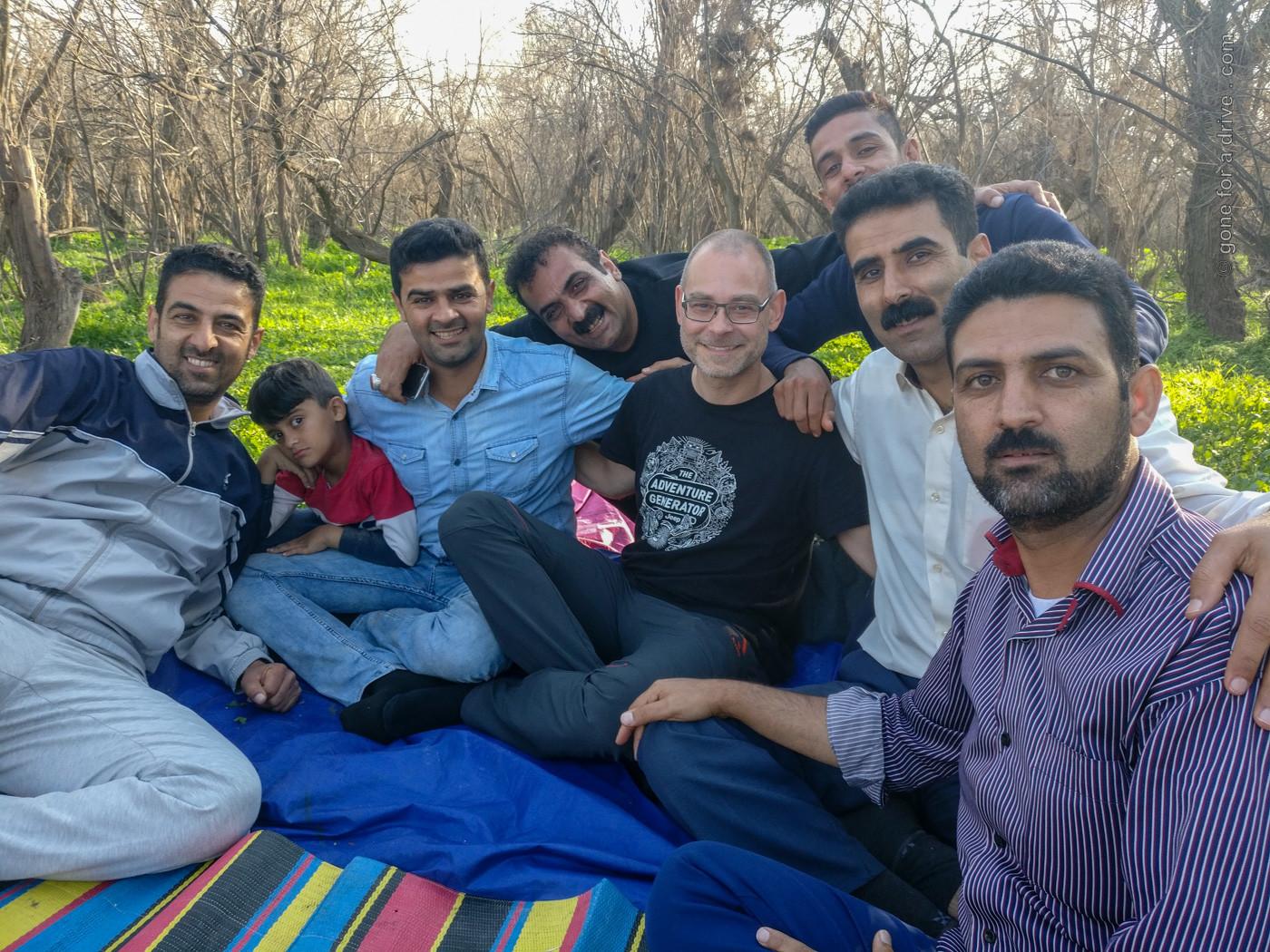 Picknick mit iranischer Familie