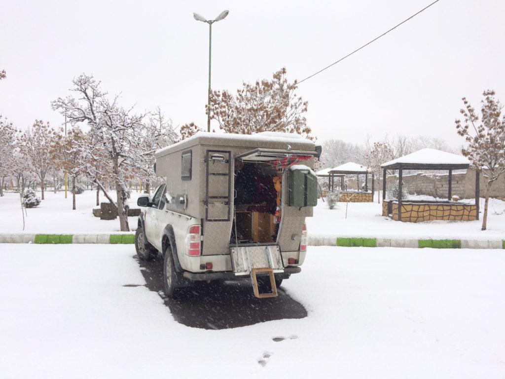 Schneesturm in Tabriz, Iran