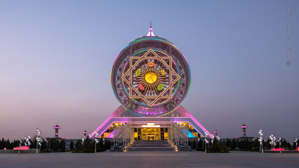 Alem Center, illuminated Ferris Wheel, Ashgabat, Turkmenistan