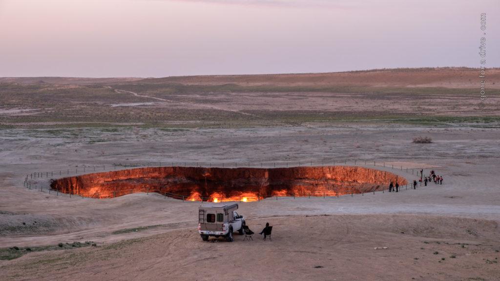 Tor zur Hölle, Krater von Derweze, Darvaza Gaskrater, Turkmenistan