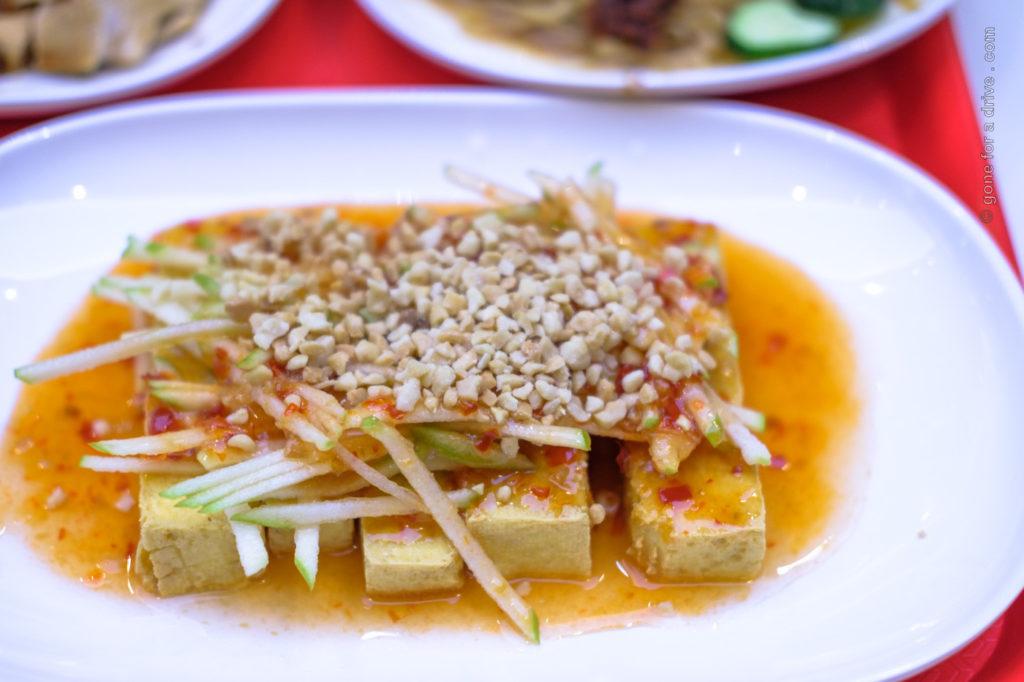 Tofu at Hawker Chan Almaty, Kasachstan