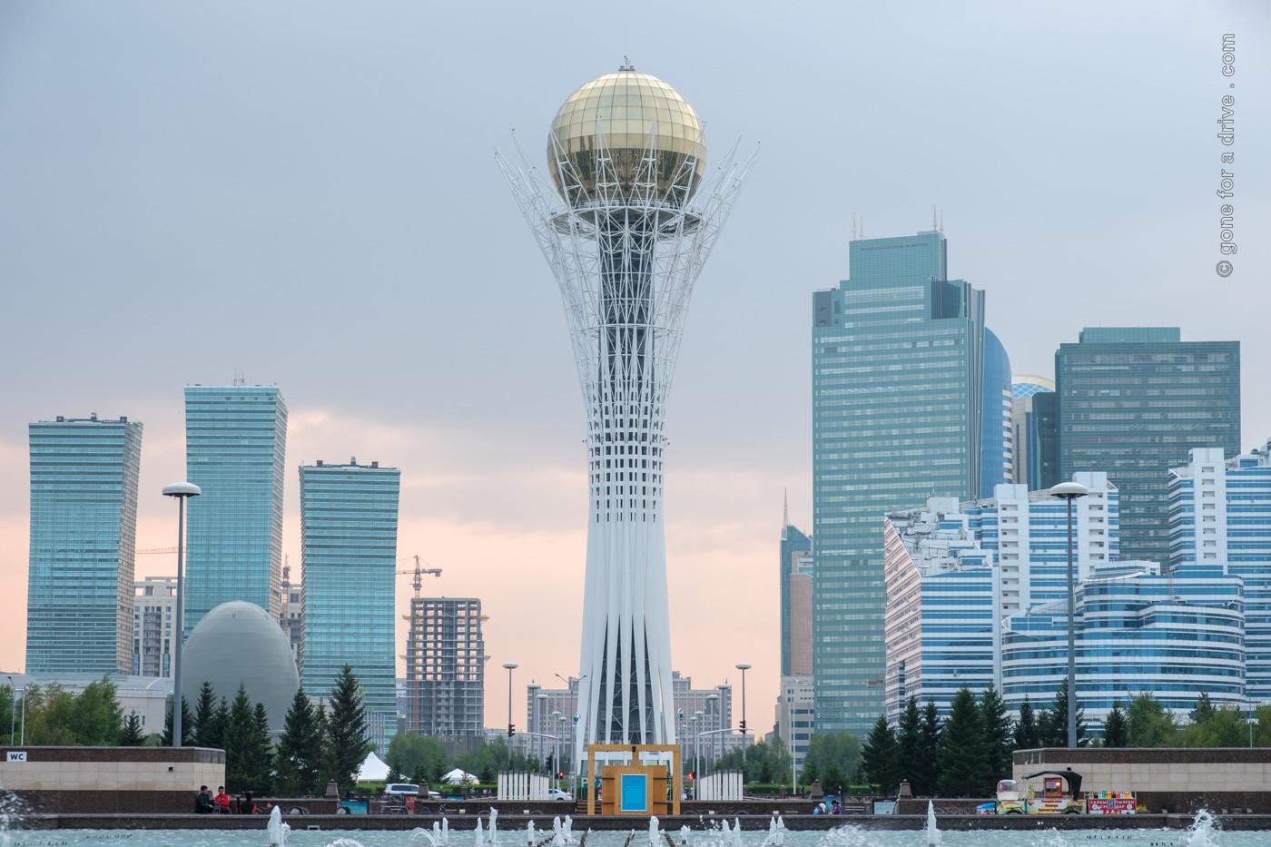 Bajterek-Turm in Nur-Sultan, Kasachstan