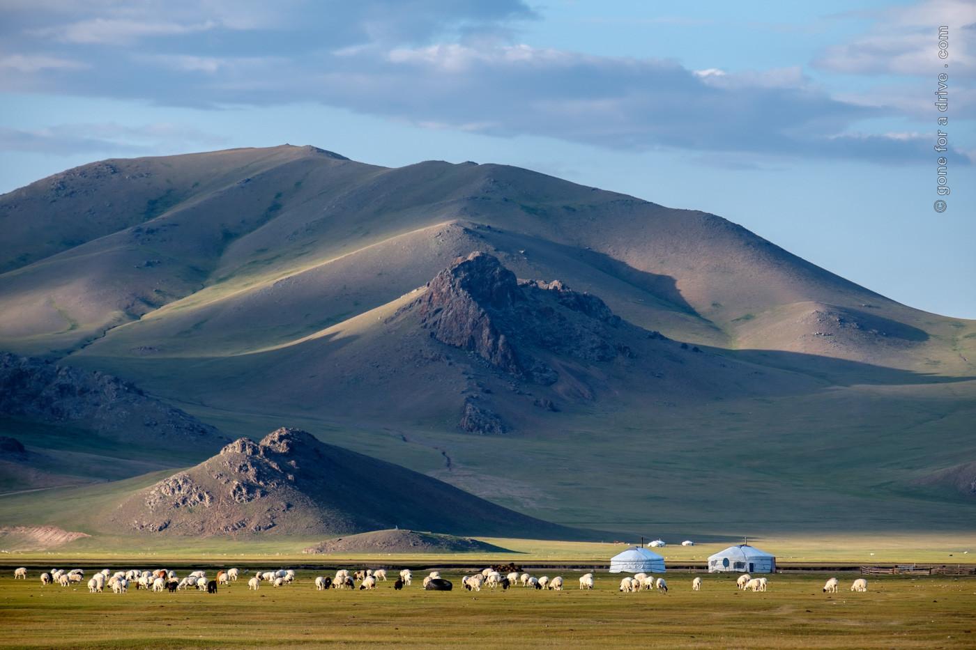 Typische mongolische Landschaft
