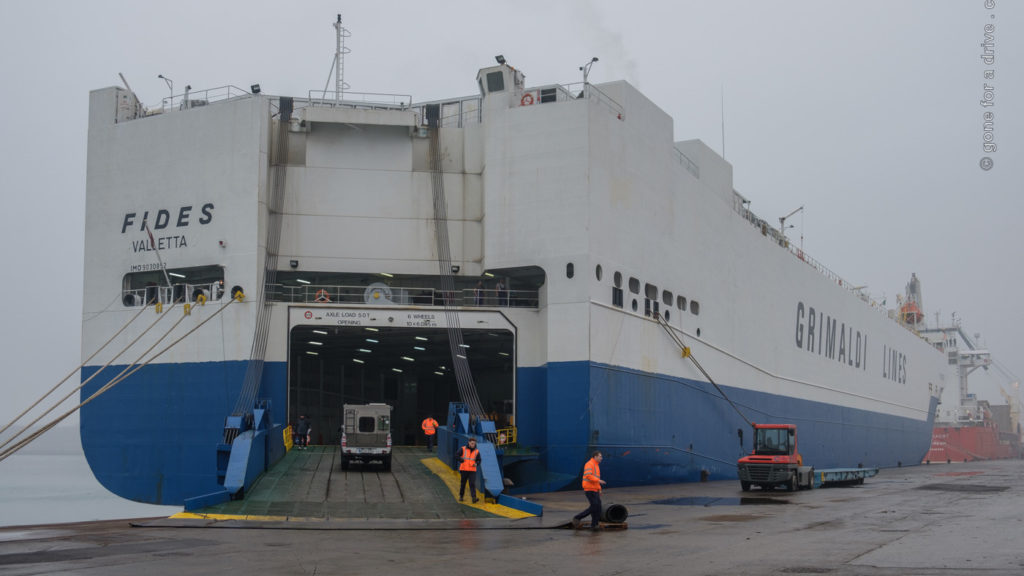 Frachtschiffreise von Italien nach Israel