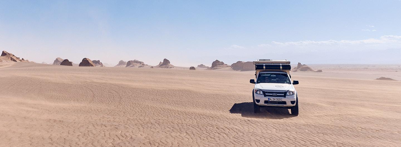 Kaluts in der Dasht-e Lut Wüste, Iran
