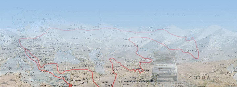 Reiseroute Auto Mongolei und Afrika