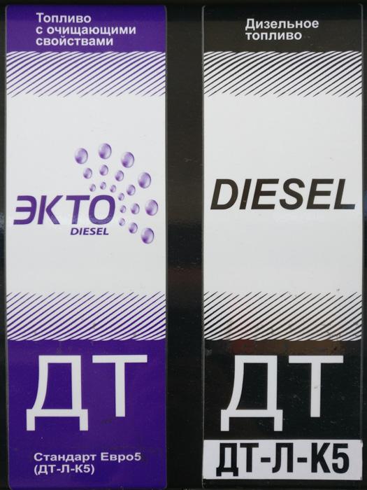Dieselzapfsäulen mit normalem und Premium-Diesel.